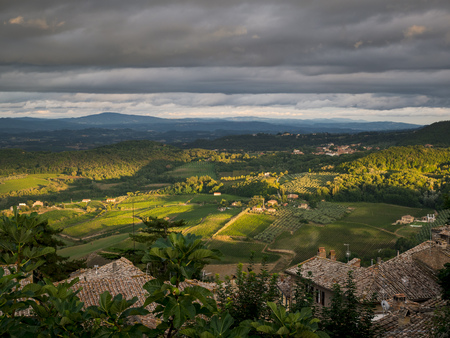 Italy, Tuscany, View from Montepulciano
