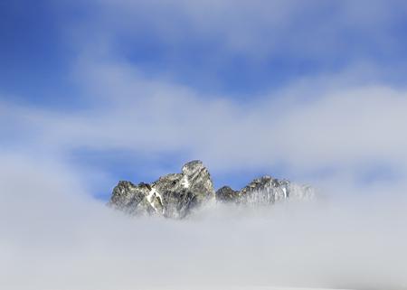 secluded: Greenland, Schweizerland, Mountaintop near Kulusuk, clouds