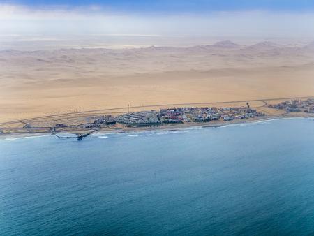 Namibia, Rand Rifles, Walvis Bay, aerial view