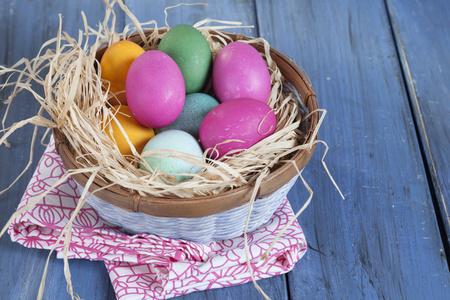 Colourful Easter basket