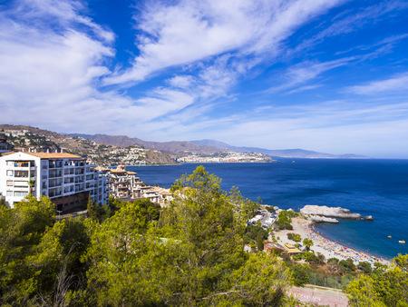 grenada: Spain, Andalusia, Grenada, Costa de Tropical, View of La Herradura