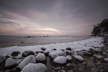 mecklenburg western pomerania: Germany, Mecklenburg-Western Pomerania, Ruegen, Sassnitz, Baltic Sea coast in winter