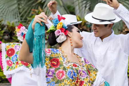 traje mexicano: Mexico, Jalisco, Xiutla dancer, folkloristic Mexican dancers
