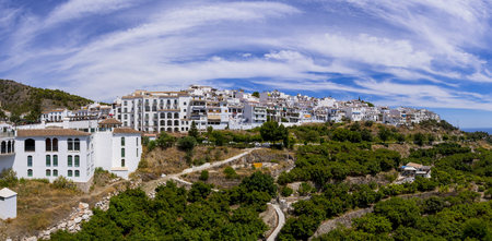 panoramas: Spain, Andalusia, Costa del Sol, View of Frigiliana