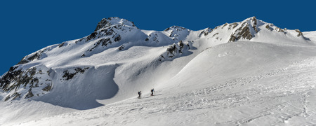 Italy, Grand St Bernard Pass, Mont Fourchon, ski tour