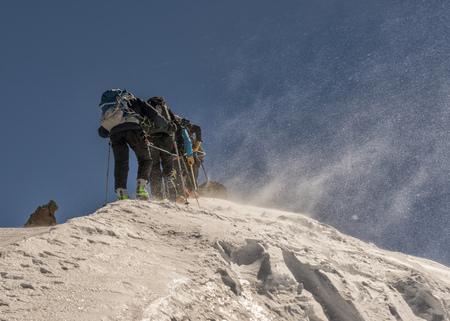 Italy, Gran Paradiso, ski tour