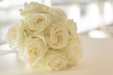 marrying: Bunch of white roses