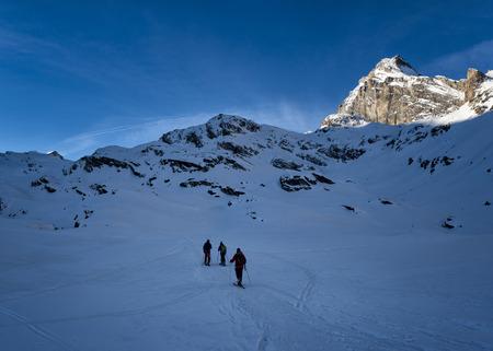 Italy, Rhemes-Notre-Dame, Benevolo, ski mountaineering