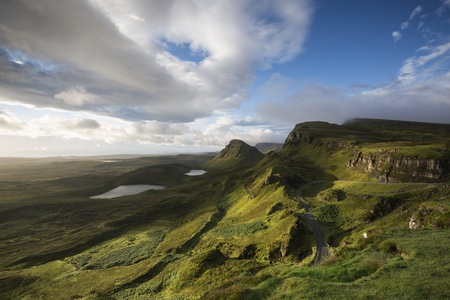 secluded: United Kingdom, Scotland, Isle of Skye, Quiraing in the morning light