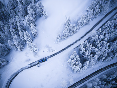 Germany, Bavaria, Rossfeldstrasse, alpine road and snowplough in winter LANG_EVOIMAGES