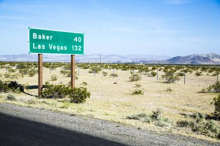 nevada: USA, Nevada, sign to Las Vegas