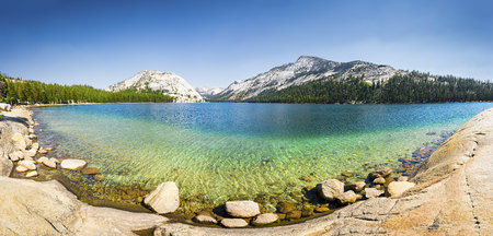 California, mountain lake, Yosemite National Park