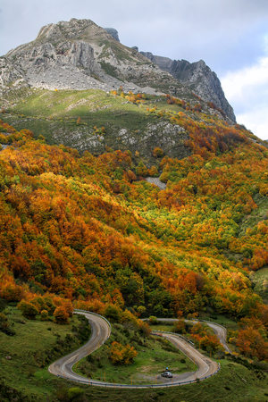 Spain, Asturias, Somiedo Natural Park in autumn