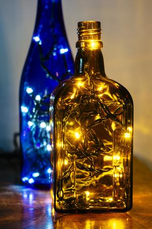 colored bottle: Christmas LED lights in bottles LANG_EVOIMAGES
