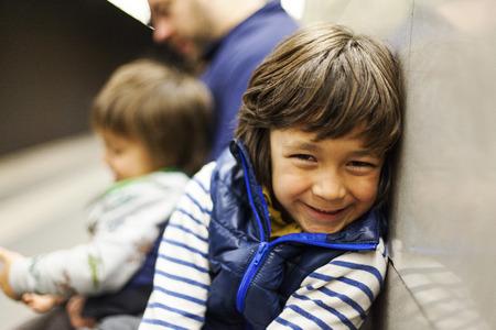 likeable: Portrait of smiling boy LANG_EVOIMAGES