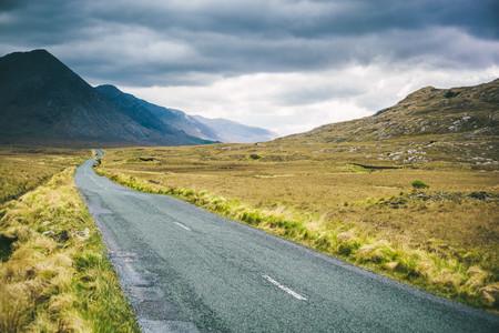 Ireland, Country road in Connemara
