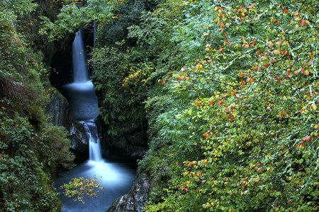 Spain, Cantabria, Saja passing through Saja-Besaya Natural Park