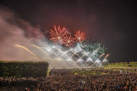 Germany, Hannover, international fireworks competition at Herrenhausen Gardens