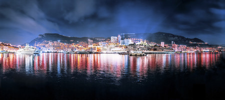 lighted: Monaco, Monte Carlo at night
