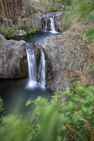 mancha: Spain, Guadalajara, Sierra de Ayllon, Cascada del Aljibe, Aljibe, waterfalls, Rio Jarama