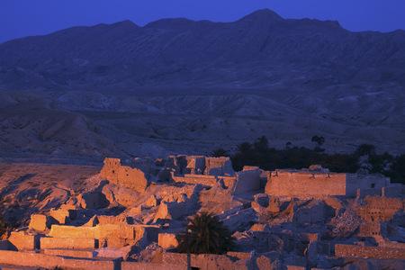 lighted: Tunisia, Oasis Tamerza in the  Djebel En Negueb Mountains near the algerian border