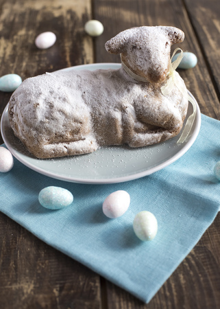 Easter lamb on plate LANG_EVOIMAGES