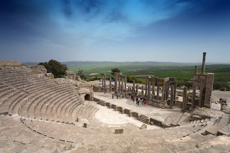 Tunisia, Beja Governorate, Roman ruin of Dougga LANG_EVOIMAGES