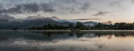 phewa: Nepal, Annapurna, Pokhara, Phewa lake in the evening LANG_EVOIMAGES