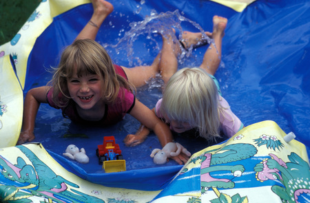 Friends Having Fun At Water Park