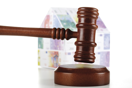 arrears: Auctioneerâ´S Hammer And House Of Euro Notes