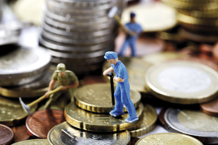 the miners: Figurines Digging Money LANG_EVOIMAGES