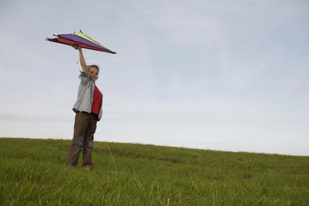 Boy (10-12) Flying Kite LANG_EVOIMAGES