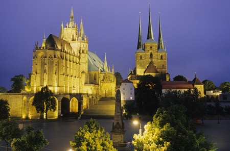 gloaming: Dome Of Erfurt, Thuringia, Germany LANG_EVOIMAGES