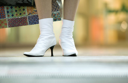 Woman Wearing Half-Boots, Low Section LANG_EVOIMAGES