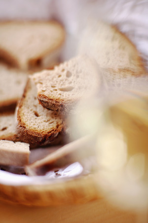 breadbasket: Bread Basket And Glass Of Wine