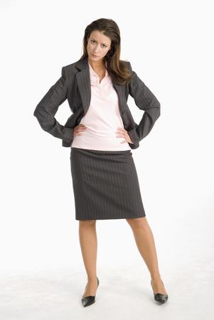Businesswoman, Hands On Chin