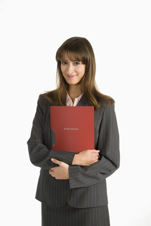 Young Woman Holding Application File