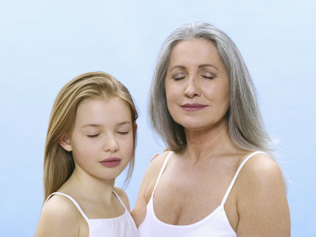 Grandmother And Granddaughter, Portrait