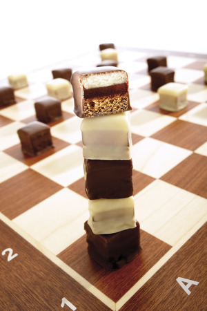 chequer: Domino Cookies On Chessboard