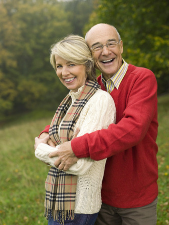 looking for love: Germany, Baden-Wã¼Rttemberg, Swabian Mountains, Senior Couple, Portrait, Smiling LANG_EVOIMAGES