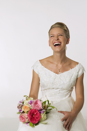 marrying: Young Bride Laughing, Portrait
