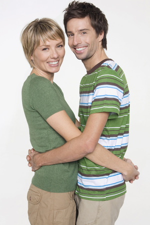 life partners: Portrait Of Young Couple, Smiling, Side View