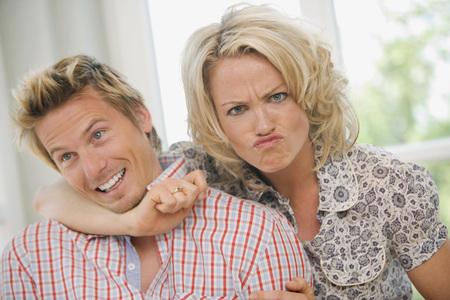 lovers quarrel: Young Couple, Portrait