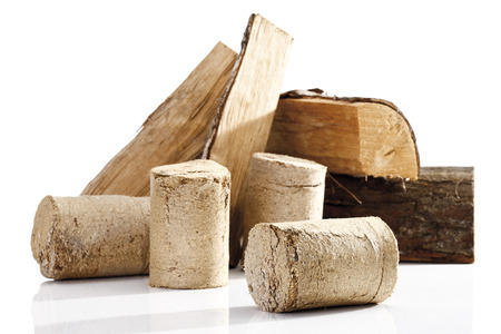 combustible: Wood Briquettes, Close-Up