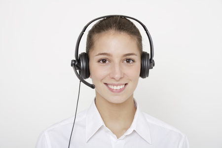 Young Woman (16-17) With Earphones, Close Up