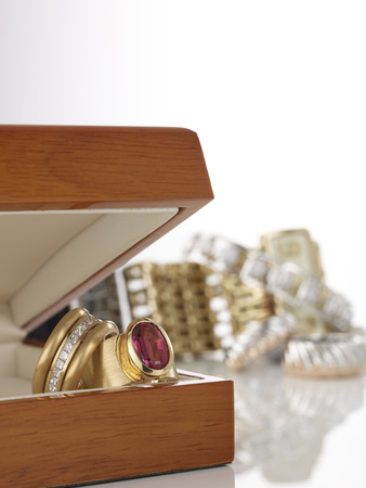 Rings In Casket, Close-Up