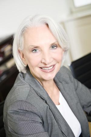 Germany, Munich, Senior Businesswoman, Smiling, Portrait