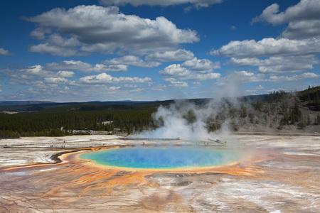 Usa,Wyoming,Yellowstone National Park,Midway Geyser Basin