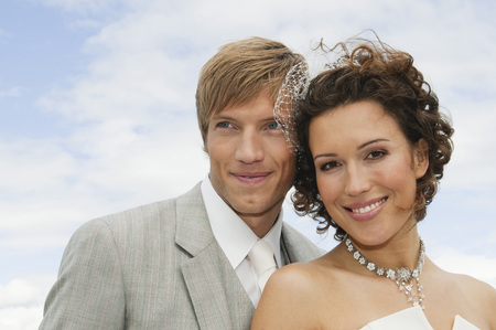 marrying: Germany,Bavaria,Portrait Of Groom And Bride,Outdoors,Close-Up
