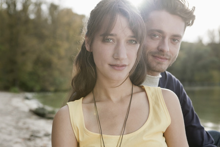 Germany,Berlin,Lake Wannsee,Young Couple,Portrait,Close-Up